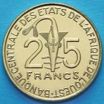 Западная Африка 25 франков 2015 год.