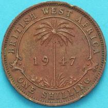 Британская Западная Африка 1 шиллинг 1947 год. KN.