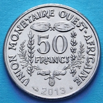 Западная Африка 50 франков 2013 год.