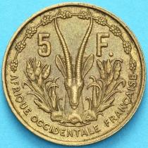 Западная Африка 5 франков 1956 год. ХF