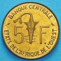 Западная Африка 5 франков 1972 год.