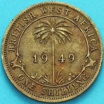 Британская Западная Африка 1 шиллинг 1949 год. Н