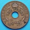 Монета Британской Западной Африки 1 пенни 1952 год.