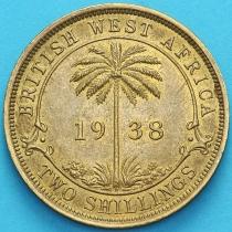 Британская Западная Африка 2 шиллинга 1938 год. Н