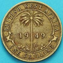 Британская Западная Африка 1 шиллинг 1949 год. КН