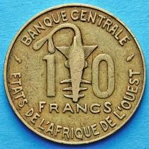 Западная Африка 10 франков 1991-1997 год.