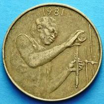 Западная Африка 25 франков 1981 год.