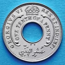 Британская Западная Африка 1/10 пенни 1940-1947 год.