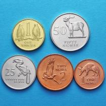 Замбия набор 5 монет 1983-1992 год.