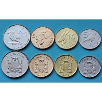 Замбия набор 4 монеты 2012 год.