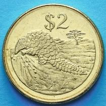 Зимбабве 2 доллара 2001 год.