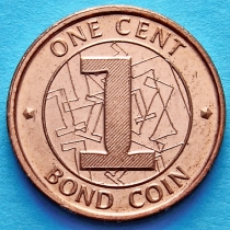 Зимбабве 1 цент 2014 год.