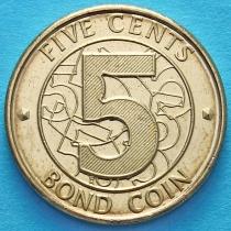 Зимбабве 5 центов 2014 год.