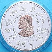 Камерун 100 франков 2014 г. Канонизация Иоана Павла II