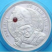 Конго 100 франков 2014 г. Канонизация Иоана Павла II