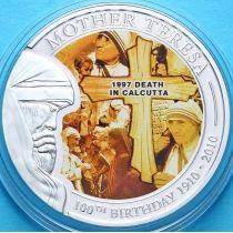 Палау 1 доллар 2010 г. Мать Тереза, 100 лет со дня рождения