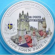 Палау 1 доллар 2011 г. Иоанн Павел II