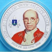 Палау 1 доллар 2009 г. Папа Пиус XII