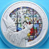 Того 100 франков 2014 г. Иоанн Павел II, витраж. Канонизация