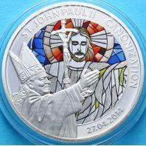 Того 100 франков 2014 г. Иоанн Павел II, витраж № 2. Канонизация
