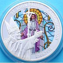 Того 100 франков 2014 г. Иоанн Павел II, витраж № 3. Канонизация