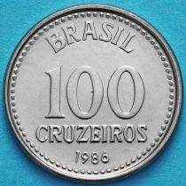 Бразилия 100 крузейро 1985-1986 год. Звезда.