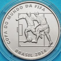 Бразилия 2 реала 2014 год. Два игрока.