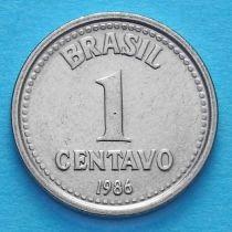 Бразилия 1 сентаво 1986 год.