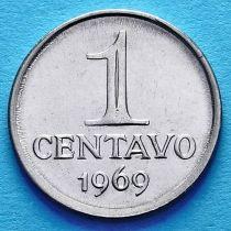 Бразилия 1 сентаво 1969 год.
