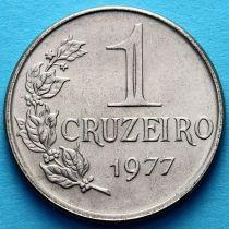 Бразилия 1 крузейро 1977 год.