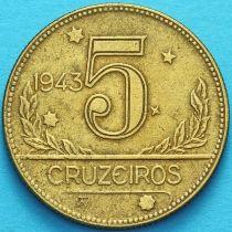 Бразилия 5 крузейро 1943 год. №2