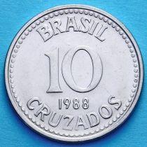 Бразилия 10 крузадо 1987-1988 год