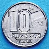 Бразилия 10 крузейро 1990-1992 год.