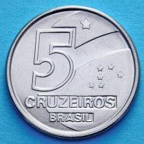 Бразилия 5 крузейро 1990-1992 год.
