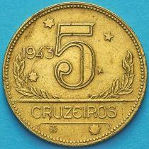 Бразилия 5 крузейро 1943 год. №3