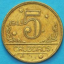 Бразилия 5 крузейро 1943 год. №4