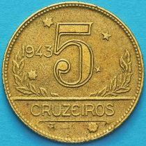 Бразилия 5 крузейро 1943 год. №5