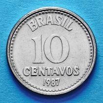 Бразилия 10 сентаво 1986-1988 год.