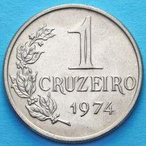 Бразилия 1 крузейро 1974-1976 год.