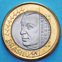 Бразилия 1 реал 2002 год. Жуселину Кубичека ди Оливейра.