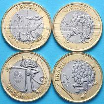 Бразилия набор 4 монеты 2016 год. Олимпиада в Рио. 4-й выпуск.