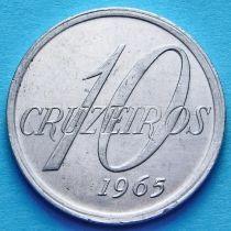 Бразилия 10 крузейро 1965 год. Карта
