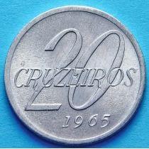 Бразилия 20 крузейро 1965 год. Карта