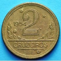 Бразилия 2 крузейро 1943-1955 год.