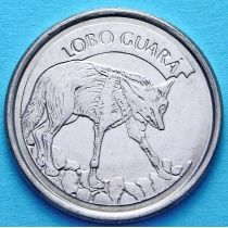 Бразилия 100 крузейро 1993 год. Гривистый волк