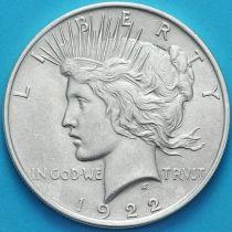 США 1 доллар 1922 год. Мирный Доллар. Серебро.