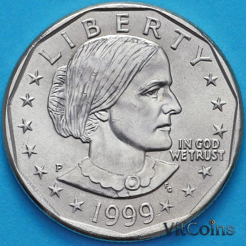 Монета США 1 доллар 1999 год. Сьюзен Энтони. P