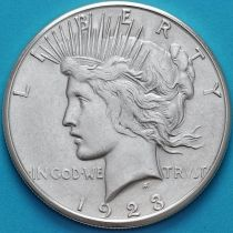 США 1 доллар 1923 год. Мирный Доллар. Серебро. S