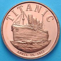 США жетон унция меди. Титаник