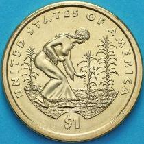 США 1 доллар 2009 год. Сакагавея. Посадка культур. Р.